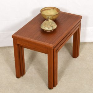 Set of 3 Danish Modern Nesting Tables in Teak