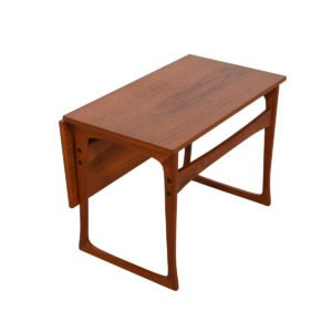 Danish Modern Expanding Teak Side Table