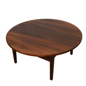 Jens Risom MCM Walnut Round Coffee Table