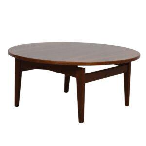 Jens Risom MCM Walnut Round Coffee Table