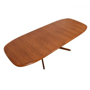 Danish Modern Teak Oblong Expanding Dining Table