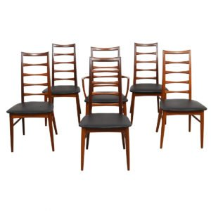 Set of 6 Koefoeds Hornslet Danish Teak Dining Chairs