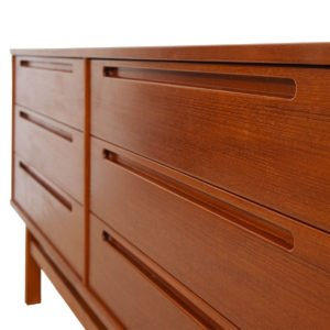 Teak Danish Modern 6-Drawer Dresser by Torring, Denmark