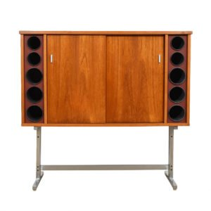 Poul Heltborg Danish Modern Teak Bar Cabinet
