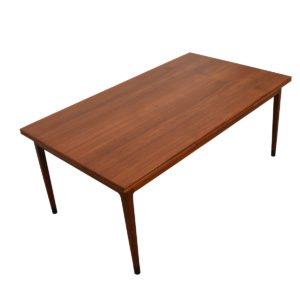Expanding Danish Modern Colossal Teak Dining Table