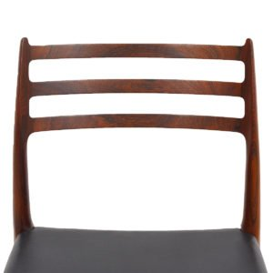 Set of 4 Danish Rosewood Dining Chairs (Model #78) by Niels Moller