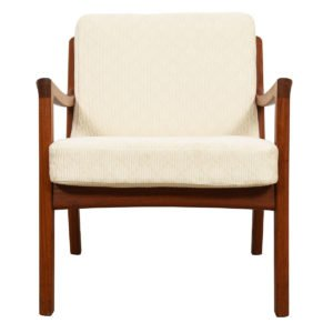 "Ole Wanscher for France & Son Danish Modern ""Senator"" Lounge Chair in Teak"