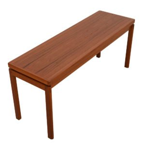 Floating Danish Modern Teak Console / Sofa Table
