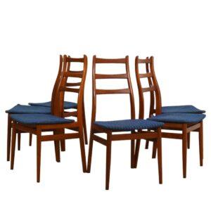 Set of 6 Danish Modern Dining Chairs in Teak