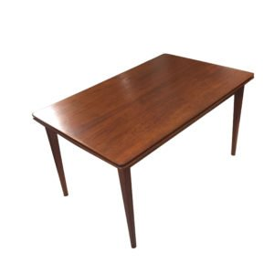 Medium-Sized Danish Modern Expanding Teak Dining Table