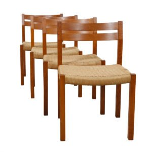 J.L. Moller Set of 4 Danish Modern Teak Dining Chairs