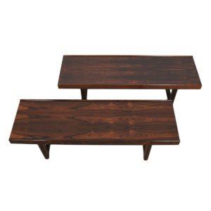 Pair of Danish Modern Rosewood Torbjorn Afdal Bruksbo Benches / Coffee Tables