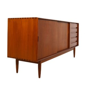 Rare Johannes Aasbjerg Andersen Danish Sideboard / Room Divider + Display Top in Solid-Teak