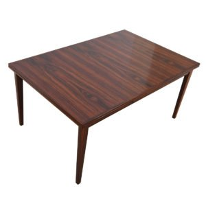 Danish Modern Rosewood Expanding Dining Table w/ Vertical Grain