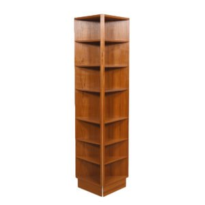 Pair of Danish Modern Teak Corner Shelves