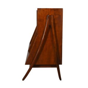Rare Pair of Kipp Stewart A-Frame Bookcases in Walnut