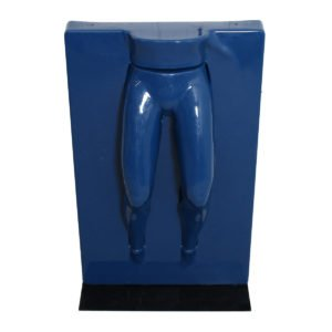 Unique Life-size Fiberglass Sculpture Mannequin Legs Protruding from Wall