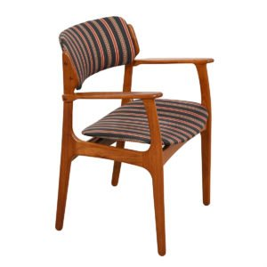 Set of 8 (2 Arm + 6 Side) Danish Teak Designer Dining Chairs by Erik Buch