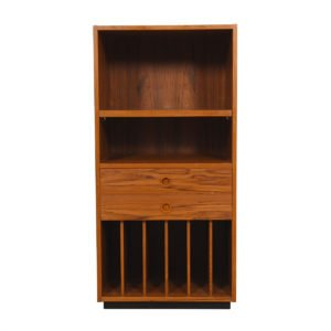 Danish Modern Teak Compact Media / Record / Bar Cabinet