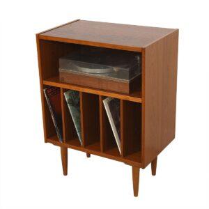 Danish Modern Teak Small Media / Record Cabinet