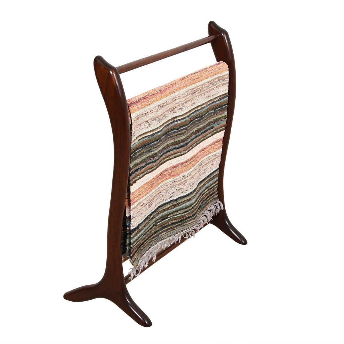 Rare Danish Modern Rosewood Sculptural Blanket / Quilt Rack