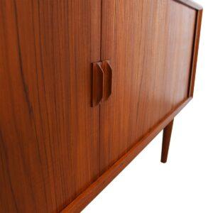 80″ Danish Modern Teak Tambour Door Sideboard / Room Divider