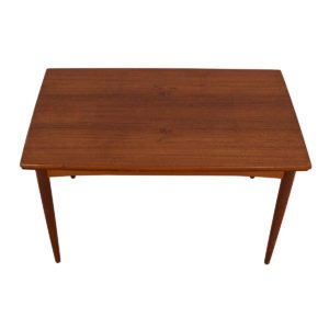 Small Danish Modern Teak 51″ Expanding Dining Table