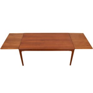 Family Size Danish Modern Teak Expanding Dining Table