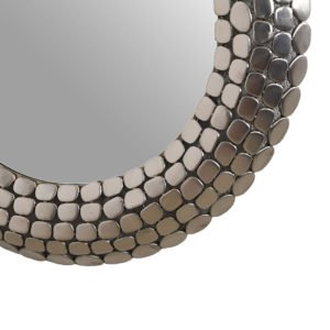 Round Chrome Mosaic Mirror