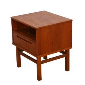 Torring Danish Modern Teak Nightstand / End Table