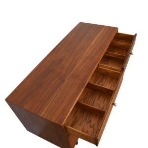 52″ Compact 6-Drawer Walnut Dresser by Drexel