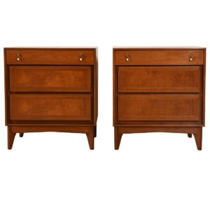 Pair of Decorator Walnut Nightstands