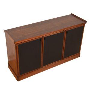 American Modernist Walnut Credenza / Room Divider