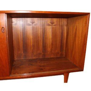 Kofod Larsen Danish Teak Sliding Door Room-Divider Cabinet by Clausen & Son