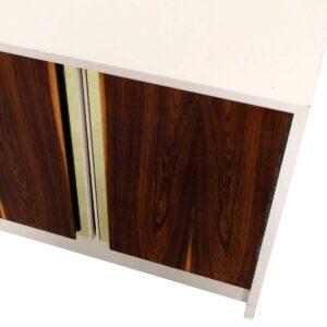 Milo Baughman Bar / Media Cabinet with Rosewood Doors