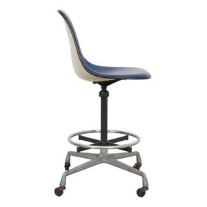 Herman Miller Blue / Chrome Stool