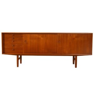 Captivating Danish Modern Teak Sideboard / Credenza / Room Divider