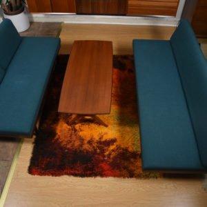 Scandinavian Teak Daybed w/ Blanket Storage