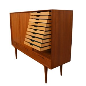 Danish Modern Teak Petite Room-Divider / Highboard