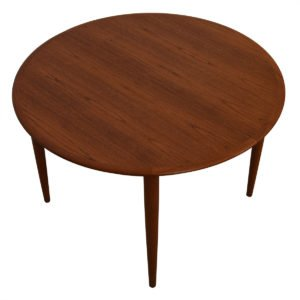 3 Leaves — Moreddi Danish Round Teak Expanding Dining Table