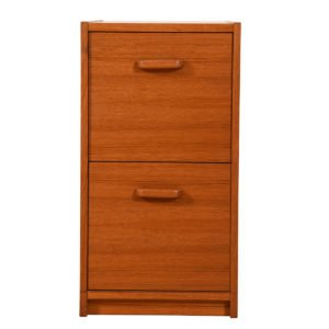 Danish Modern 2 Drawer File Cabinet in Teak