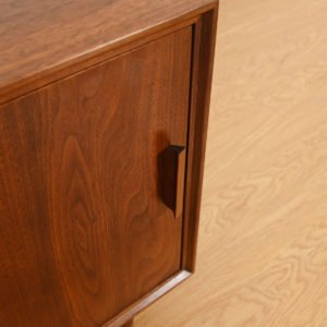 Walnut Mid Century Modern Nightstand / Accent Storage