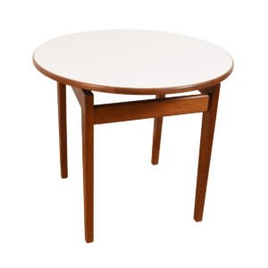 Jens Risom Mid-Century Walnut Round Accent / Coffee Table