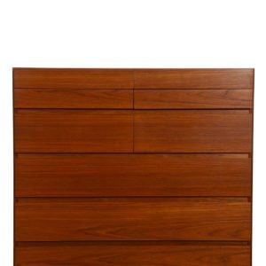Danish Modern Teak Tall 'Split-Drawer' Dresser