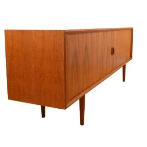 Super-Long Danish Teak 90″ Tambour Door Sideboard / Room Divider