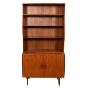 Pair, Borge Mogensen for Soborg, Danish Teak Locking Storage / Bookcase Cabinets