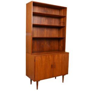 Pair Borge Mogensen for Soborg, Danish Teak Locking Storage / Bookcase Cabinet
