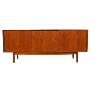 Swedish Modern Teak Sliding Door Sideboard