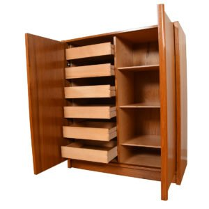 Danish Teak Gentleman's Chest / Organizational Cabinet