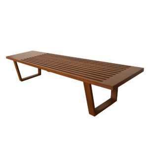 American Modernist Walnut Slat Bench / Coffee Table